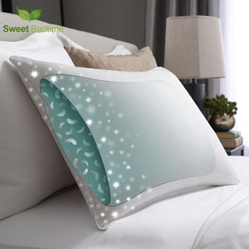 pillow-in-a-pillow design 330TC cotton hotel touch 50*70 king queen 550 Fill power duck down Surround goose feather pillow inser