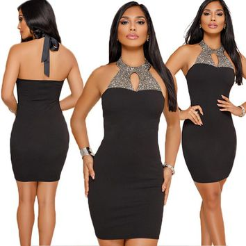 Sara halterneck bodycon dress