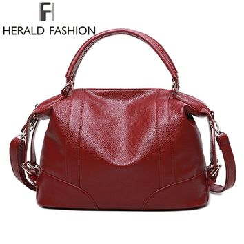 Soft  Leather Handbags Big Women Bag Zipper Ladies Shoulder Bag Girl Hobos Bags New Arrivals bolsa feminina