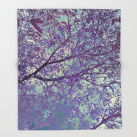 forest 2 #forest #tree Throw Blanket by jbjart