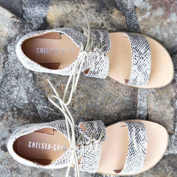 Katie Lace Up Sandal | Chelsea Crew