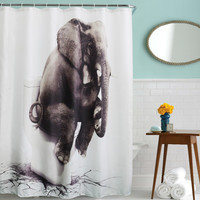 Elephant Bathroom Shower Curtain