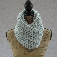 Ready To Ship Glacier Blue Chunky Scarf Fall Winter Women's Accessory Infinity