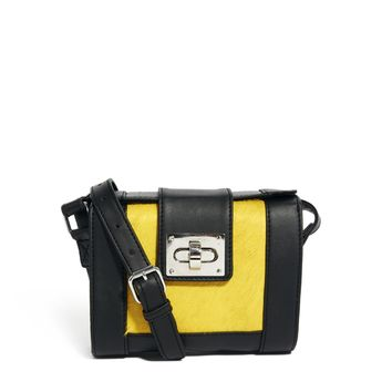ASOS Barrel Cross Body Bag With Leather Pony