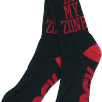 Dgk In My Zone Crew Socks Black/Red 1pair