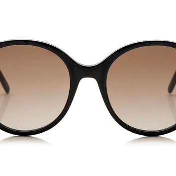 Jimmy Choo - More Black Acetate with Stud Detail Sunglasses
