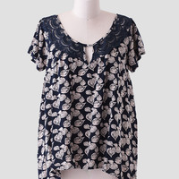 Journey To Athens Printed Blouse