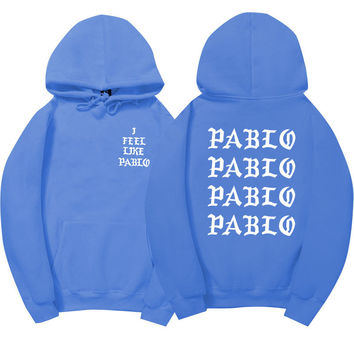 I Feel Like Pablo Light Blue Hoodie
