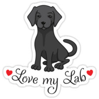 Love my black lab labrador sticker