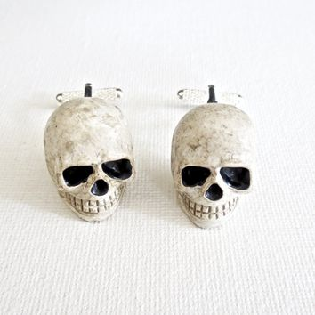 Skull Halloween Skeleton Cufflinks
