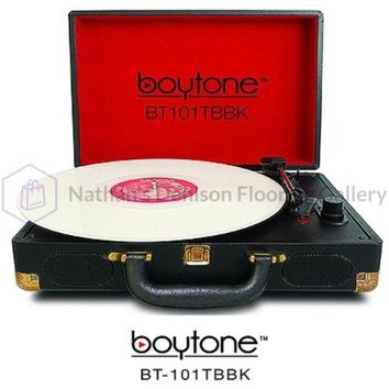 BOYTONE BT-101TBBK 5 in 1 Boytone BT-101TBBK Briefcase Record Player AC-DC Built in