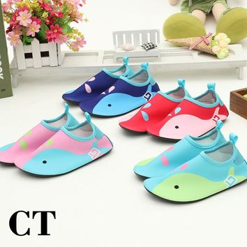 Kid's Beach Breathable Slippers For Swimming Cute Carton Child Aqua Shoes Non-slip Wetsuit Lightweight Scuba Snorkeling Boots
