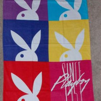 Official Authentic Playboy Beach Bath Towel 30x60 100% Cotton Rabbit Bunny NEW