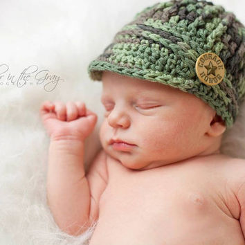 Crochet Pattern for Unisex Freedom Fighter Newsboy Beanie Hat - 6 sizes, baby to adult - Welcome to sell finished items