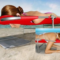 Vega Plus Beach Chaise / Lounger - Blue