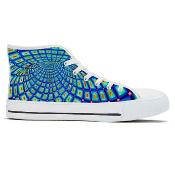 Torus by Alex Aliume - High Top Canvas Shoes