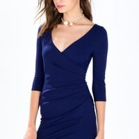 Sofia Surplice Wrap Dress