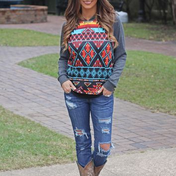 The Ashleigh Aztec Pullover