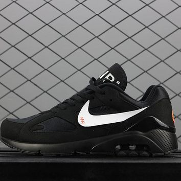OFF WHITE x Nike Air Max 180 AQ5287-001 Black Sport Running Shoes - Best Online Sale