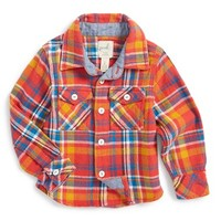 Infant Boy's Peek 'Durango' Plaid Woven Shirt,