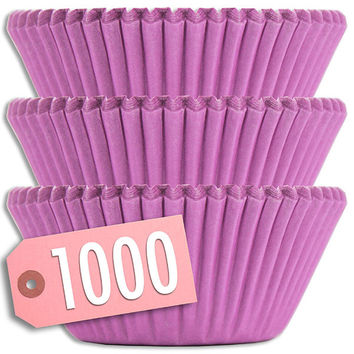 Solid Lavender Baking Cups 1000