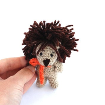 crochet mini lion, amigurumi lion doll, stuffed little lion, lion the king, cute little animal, plushie lion toy, great gift for teen girls