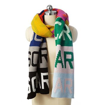Over-Sized Color Block Scarf | Oversized scarf, Rainbow scarf