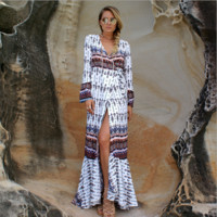 Bohemian long skirt beach  dress B0015578