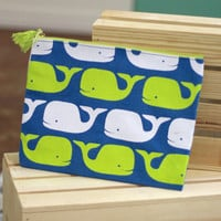 Whales Carry All Bag {Blue + Yellow}