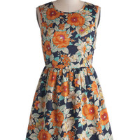 ModCloth Short Length Sleeveless A-line Citrus Cocktails Dress