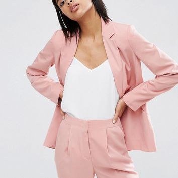 ASOS Soft Lux Longerline Occasion Blazer at asos.com