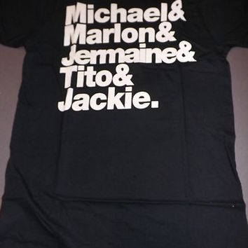 THE JACKSON'S Michael Marlon Jermaine Tito Jackie Jackson Five T-Shirt **NEW