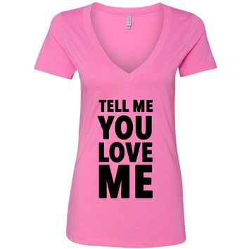 "Demi Lovato ""Tell Me You Love Me"" V-Neck T-Shirt"