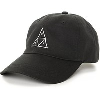 HUF Triangle Black Baseball Strapback Hat