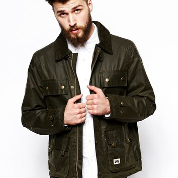 Brixtol Biker Jacket in Antique Wax Cotton