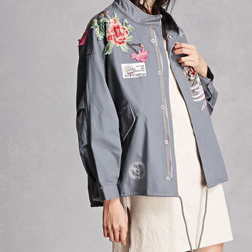Floral Embroidered Jacket