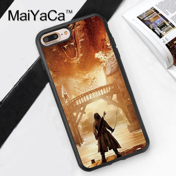 LORD OF THE RINGS HOBBIT DRAGON Soft TPU Mobile Phone Case Funda For iPhone 7 7 Plus 6 6S Plus 5 5S 5C SE 4 4S Back Cover Skin