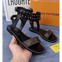 LV Louis Vuitton New Stylish Popular Women Casual Leather Summer Cool Sandals Flat Shoes I-ALS-XZ