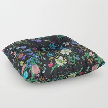 WILD FLOWERS Floor Pillow by Salome