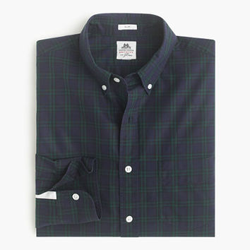 Slim Thomas Mason For J.Crew Flannel Shirt In Tartan