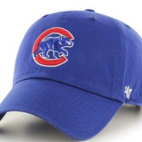 ONETOW Forty Seven Brand Chicago Cubs Clean Up Cub Logo Hat In Royal
