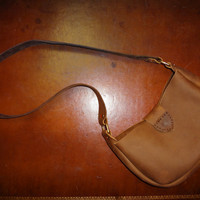Handmade Leather Purse - Brown and Brass