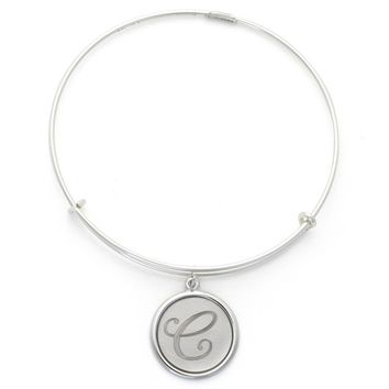 Alex and Ani Precious Initial C Charm Bangle - Argentium Silver