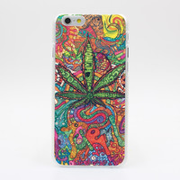 Abstractionism Art high weed tumblr Pattern hard White Skin Case Cover for iPhon