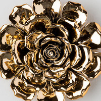 Gold Ceramic Wall Decor Flower