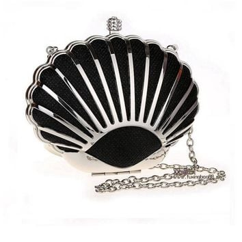 Mermaid Shell Clutch With Chain Strap