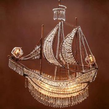 Crystal ship chandelier hanging lamps from z gallerie my for Z gallerie bathroom lights
