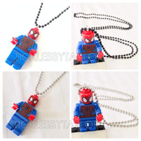 BOGO Buy 1 Get 1 Promo! Lego® SPIDERMAN Justice League Necklace, Lego Superhero Necklace, FREE Lego® Minifigure Necklace Party Favors Gift