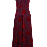 Moschino Vintage burnt velvet gown