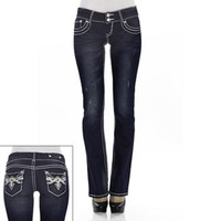 Wallflower Rhinestone Bootcut Jeans - Juniors